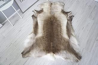 MILABERT Genuine Super Soft - Extra Large Scandinavian Reindeer Skin - Rug | Hide | Pelt - RE 402