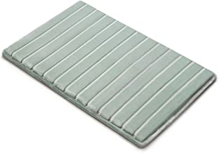 MICRODRY 10804 Quick Drying Memory Foam Bath mat with GripTex Skid-Resistant Base, 17 x 24, Seaglass