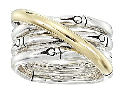 John Hardy Bamboo 14mm Band Ring (Silver/18K Gold) Ring
