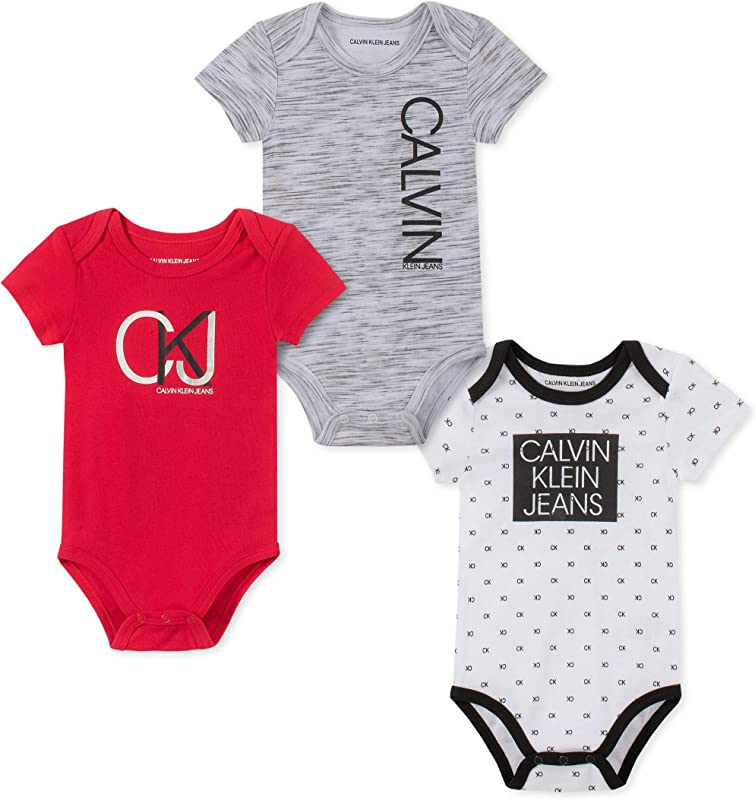 Calvin Klein Baby Boys 3 Pieces Pack Bodysuits