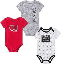Calvin Klein Baby Boys' 3 Pieces Pack Bodysuits