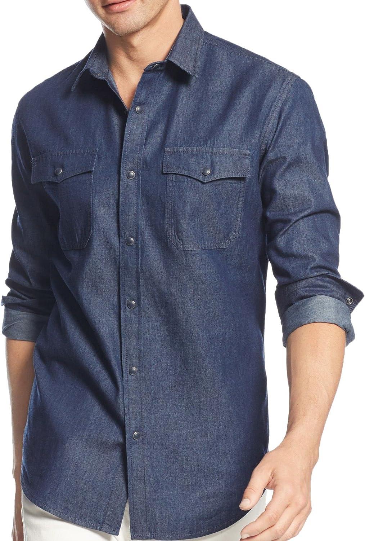 f135145b6 American Rag Mens Deija Button Button Button Up Shirt 7b38d1 ...