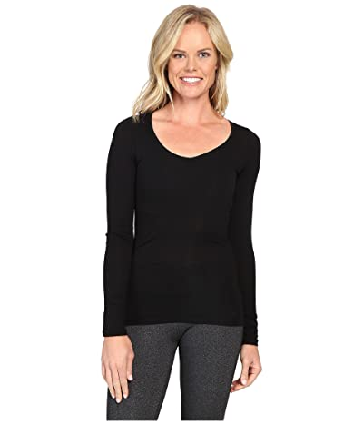 Icebreaker Siren Merino Long Sleeve Sweetheart (Black) Women