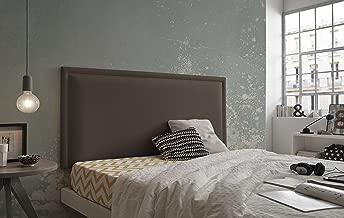 Living Sofa CABECERO Cama Gran CAPITON/É DE Alta Gama TAPIZADO EN MICROPIEL Color BEIG 145 X 80 Todas Las Medidas