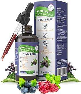 Organic Elderberry Syrup for Adults & Kids (Large Tincture - 6000mg) Sugar-Free Immune Support - Vegan Sambucus Liquid Ext...