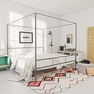 Novogratz Marion Canopy Bed, King, Dark Gray