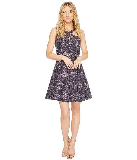 Sleeveless Dress Double Strap CeCe Lisa Jacquard Pq8551
