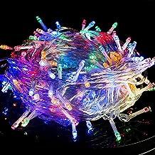 حبل اضواء داخلي - حبل اضواء من ارابيست من 100 اضاءة LED باللون الابيض الدافئ و8 اوضاع بطول 33 قدم للكريسماس، حبل اضواء ساح...