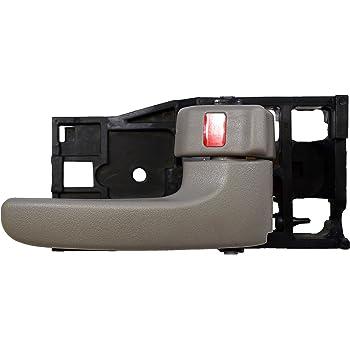 Black Housing with Black//Silver Insert Lever Passenger Side Inside Interior Inner Door Handle PT Auto Warehouse NI-2909A-RH
