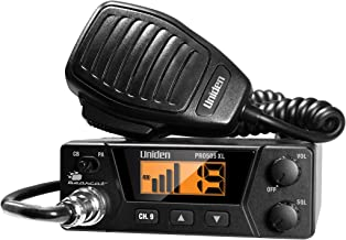 Uniden PRO505XL 40-Channel CB Radio. Pro-Series, Compact Design. Public Address (PA) Function. Instant Emergency Channel 9, External Speaker Jack, Large Easy to Read Display. - Black