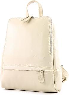 modamoda de - T138 - ital Damen Rucksacktasche aus Leder