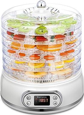 Elechomes UH0401 Deshidratador de alimentos, 6 bandejas con pantalla de malla y hoja de rollo de frutas, secado rápido para c