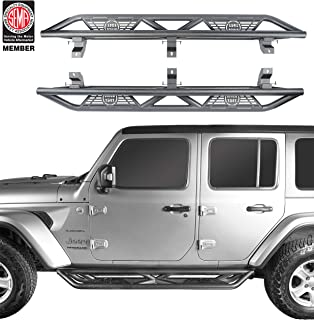u-Box Jeep Wrangler JL Unlimited Side Step Running Board Nerf Bars w/Since 1941 Logo for 2018 2019 2020 Jeep Wrangler 4 Door