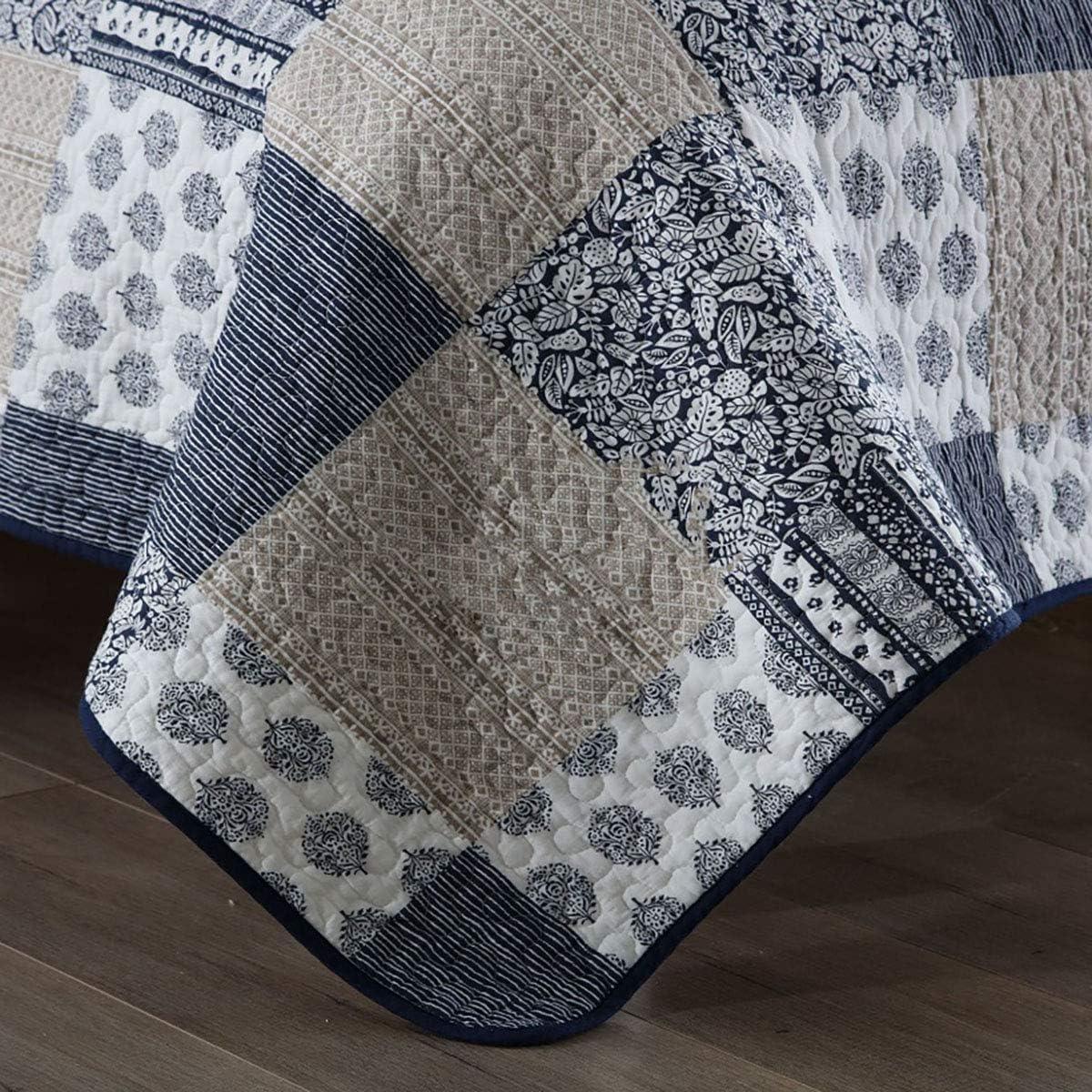O&H 150X200Cm Couvre-Lit Géométrique Patchwork Matelassé Plaid Canapé-Lit Couverture Été Couette Couette Couverture All Season Home Carpet (Pas De Taies d'oreiller) F