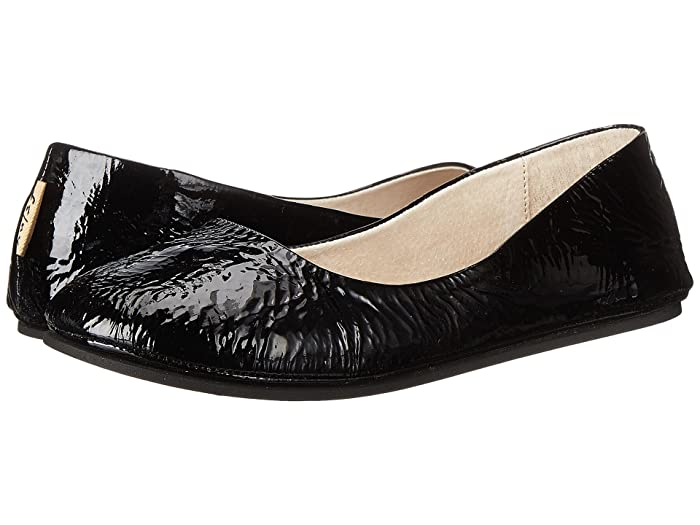 French Sole  Sloop Flat (Black Patent) Womens Flat Shoes