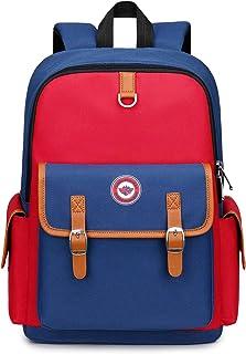 MITOWERMI Girls Flower Printed Primary Junior High University School Bag Bookbag Elementary Backpack Blue