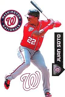 Juan Soto FATHEAD TEAMMATE Washington Nationals Logo Set Official MLB Peel and Stick Re-Usable Vinyl Wall Graphics 17