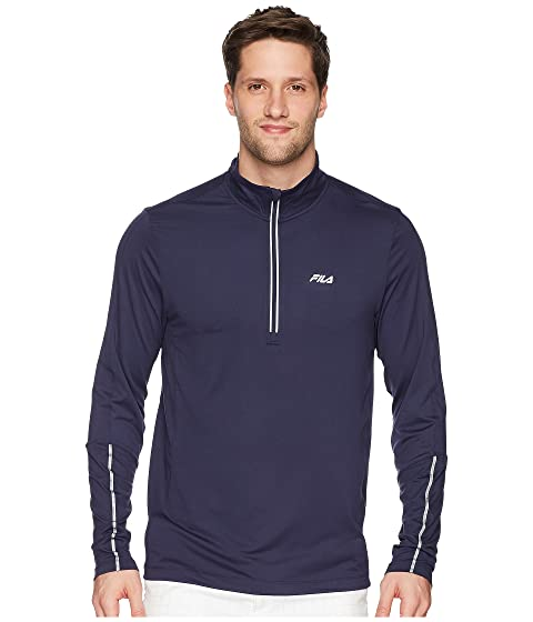 Clearance Looking For Fila Cutters Mock Neck Top Navy/Navy/Silver Foil Cheap Sale Cheapest Price Very Cheap MEPfz04Y4