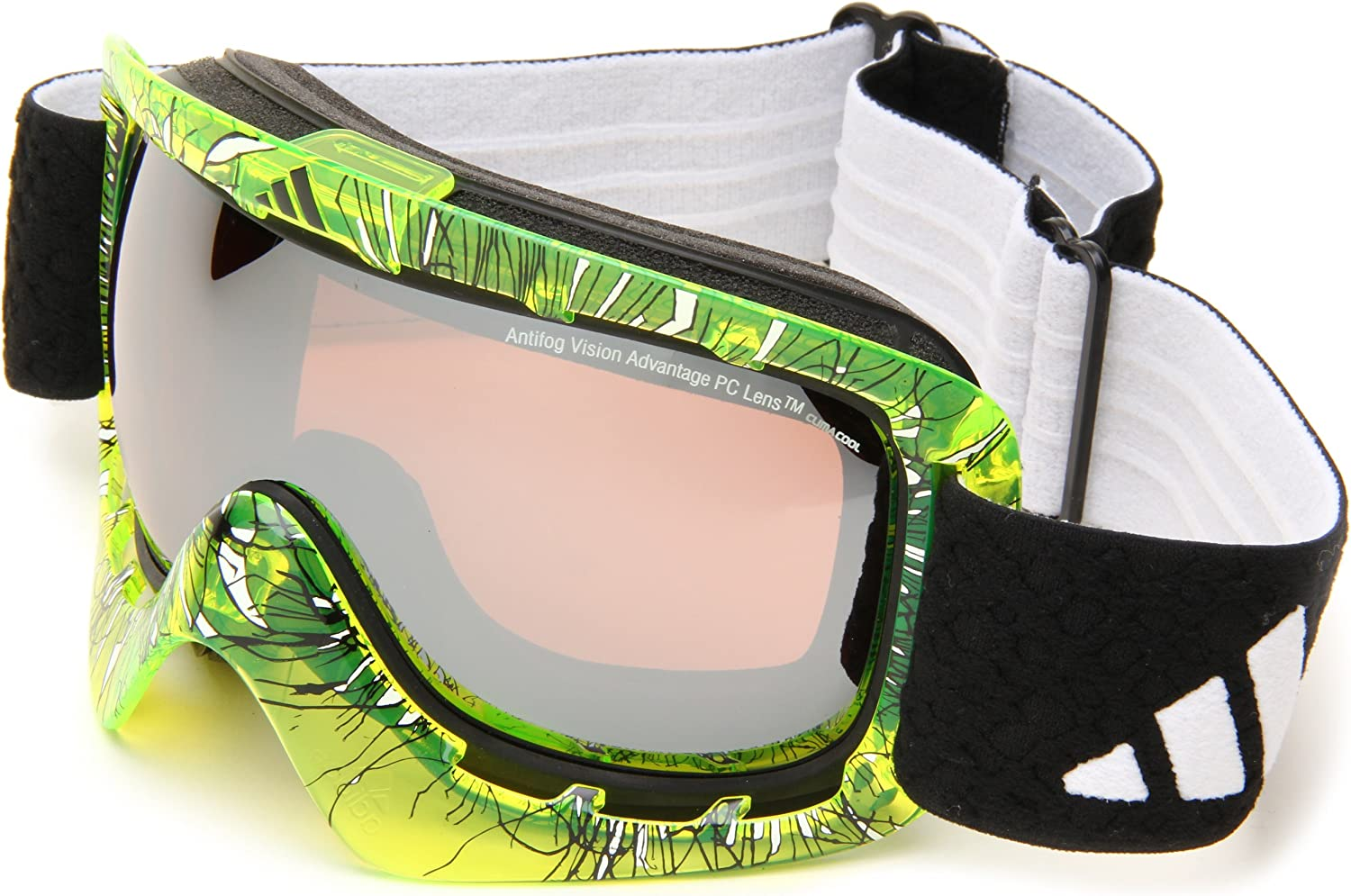Adidas Id2 A162506067 Shield Sunglasses,Transparent Yellow Print Frame LST Active Silver Lens,One Size