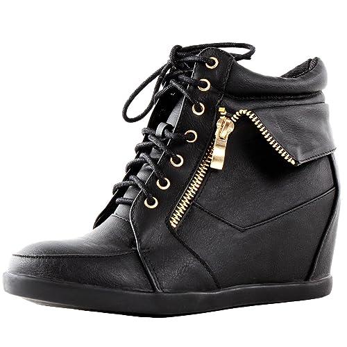 7a32a0cb6e6 Top Moda Womens Peter-30 Fashion Sneakers
