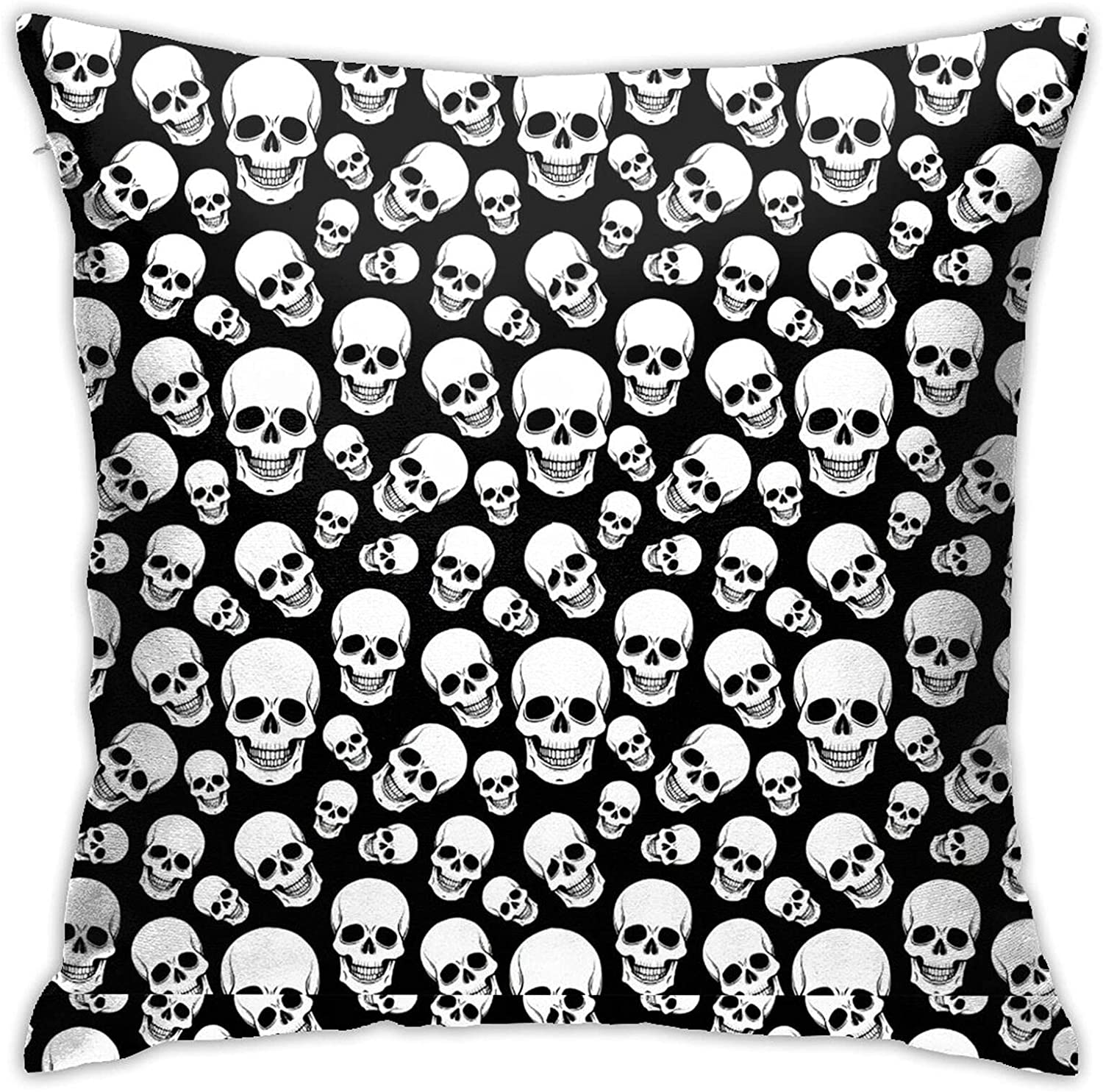 Skull 18 X Inches Cute Design Indoor Couch Pillows Very popular! Bed De and Large discharge sale