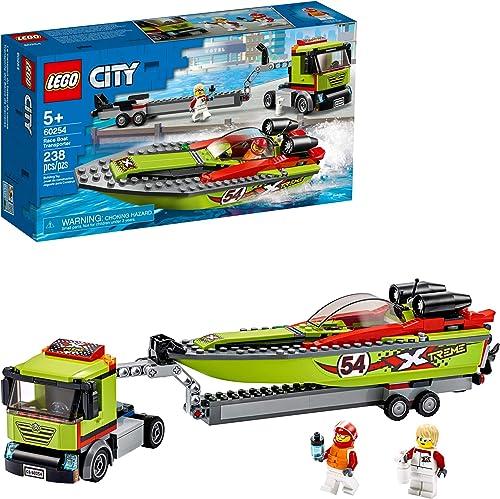LEGO City 60254 Transporte del Barco de Carreras (238 piezas)