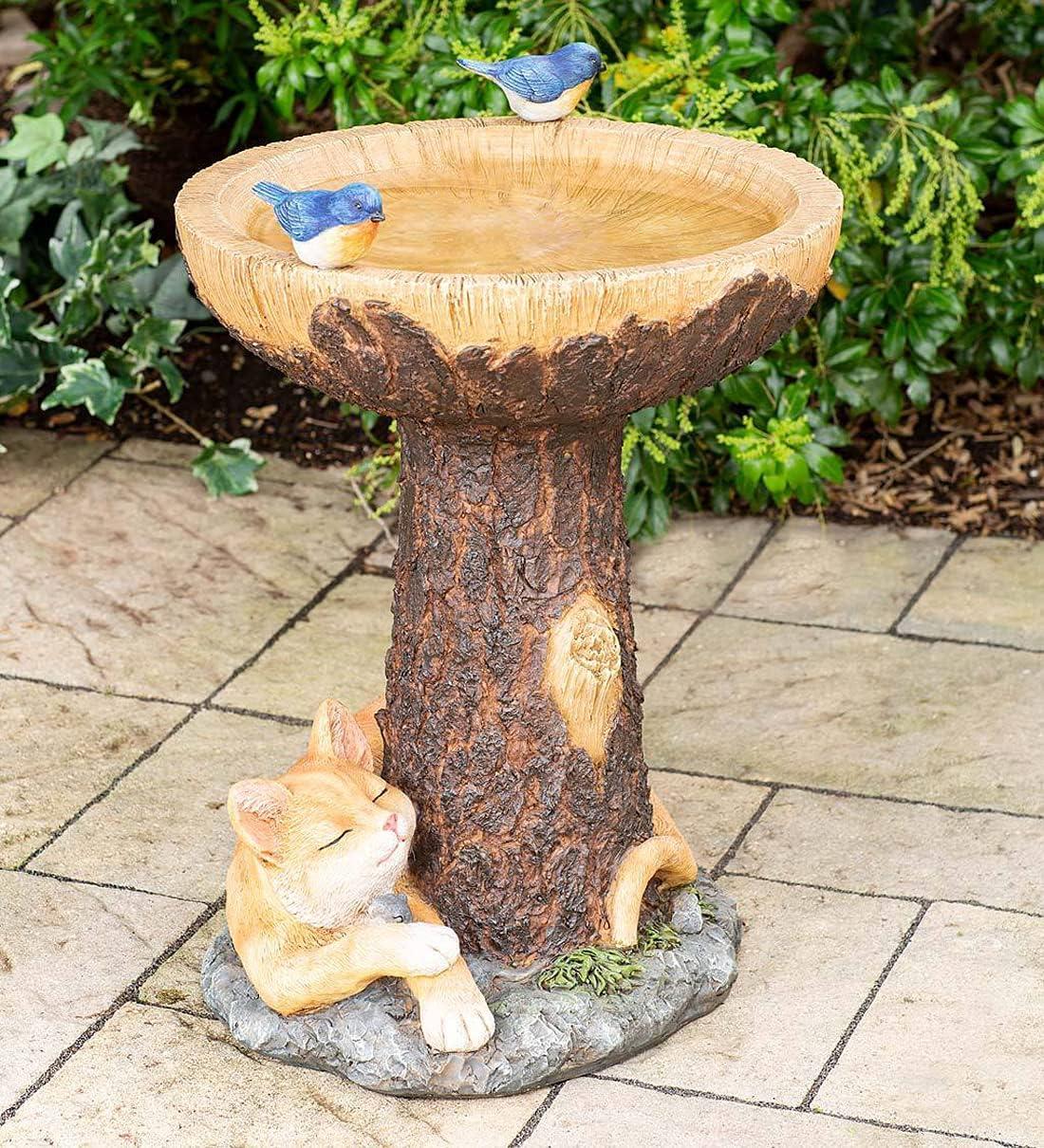 祝開店大放出セール開催中 Creative Fairies Handmade Brown Pedestal for 品質検査済 Outdoor - Bath Bird