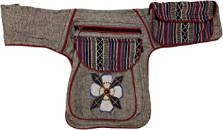 Fanny Packs for Women Fashion - Boho Hippie Waist Pack for Women (White Flower)