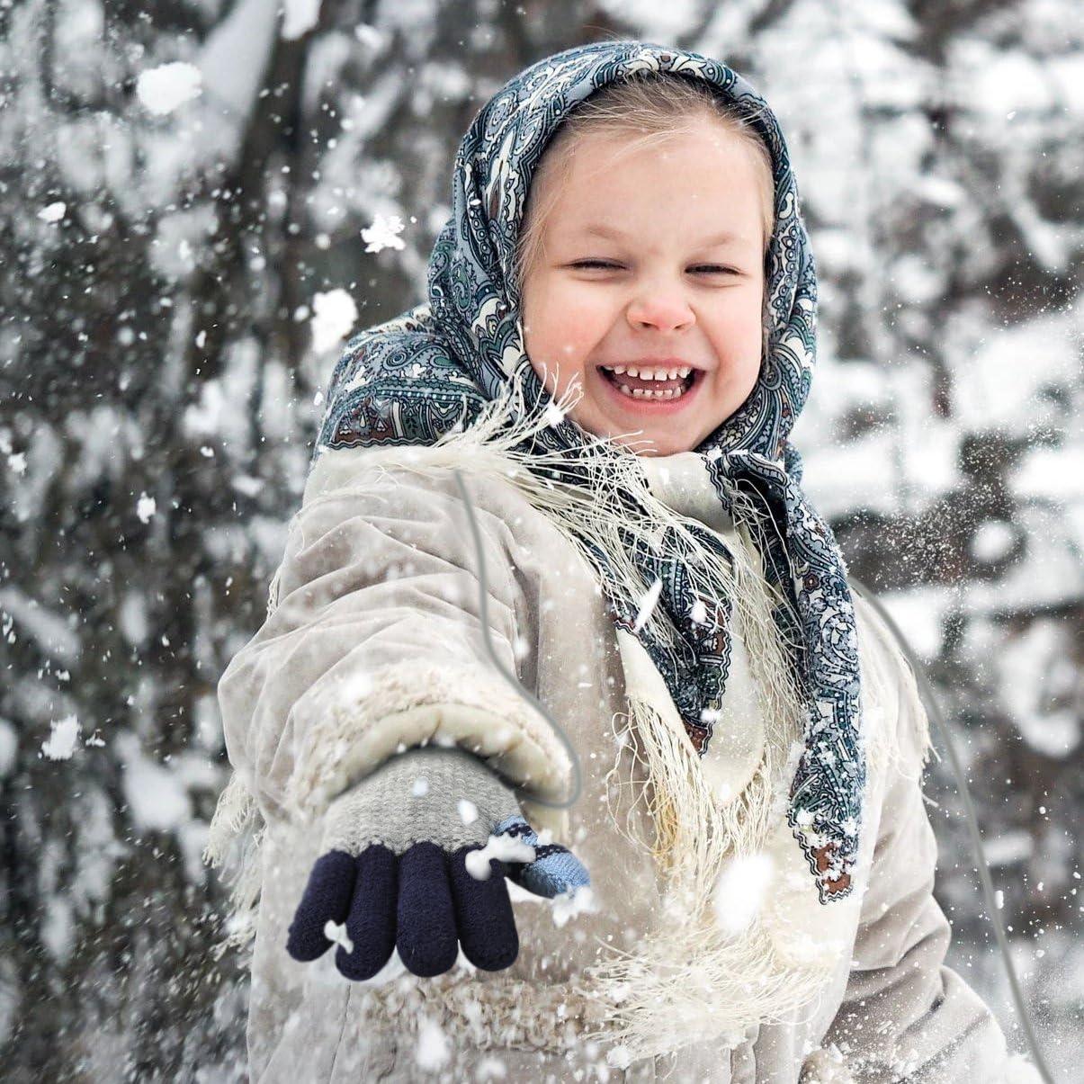 VBIGER Winterm/ütze Strickm/ütze Warme Beanie Winter M/ütze und Schal mit Fleecefutter f/ür Damen und Herren