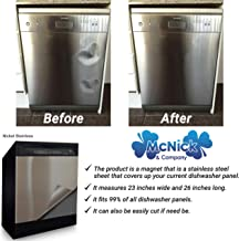 Stainless Steel Dishwasher Cover Decal – #1 Dishwasher Magnet Cover – Many..