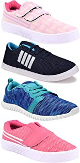 Camfoot Women's (9237-9030-9031-1162) Multicolor Casual Sports Running Shoes (Set of 4 Pair)