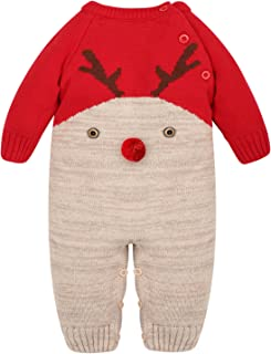 BESBOMIG Weihnachten Outfits Spielanzug Mantel Neugeborenes S/äugling Baby Rei/ßverschluss Mit Kapuze Warm Kleider Strampler Winter Overall