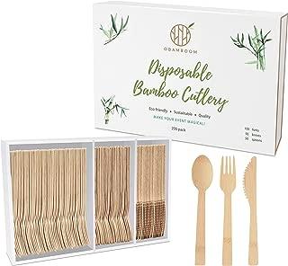 disposable bamboo flatware bulk