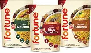 Fortune Superfood Khichdi 600g Combo (Bengali, Gujarati, Punjabi khichdi 200gm Each)
