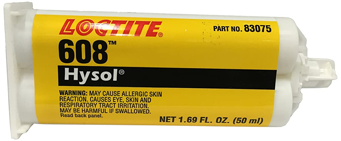 Loctite 398455 Clear Hysol 608 Two-Part Epoxy Adhesive, Base and Accelerator, 50 mL Cartridge
