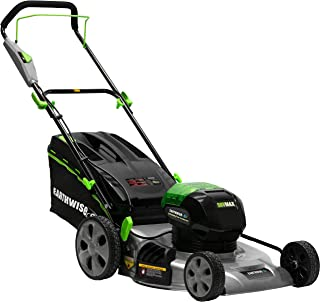 Earthwise 65821 58 Volt 3-in-1 Cordless Electric Push Lawn Mower 21-Inch (4Ah Battery and Charger Included)