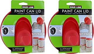 Shur-Line 1783844 Red Silicone Mess-Free Store and Pour Collapsible Gallon Paint Can Lid (2 Pack)