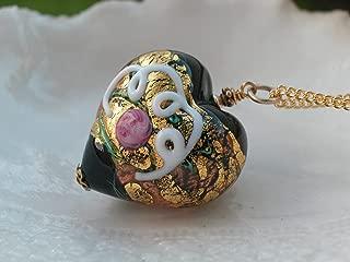 murano wedding cake necklace