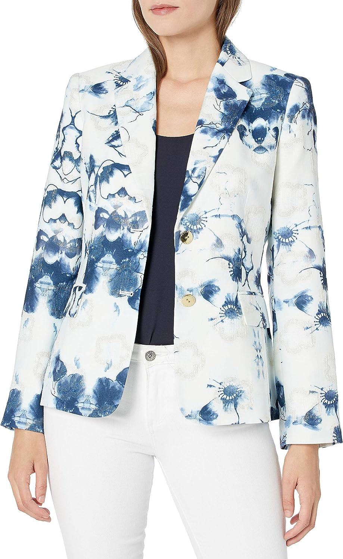 Tahari ASL Women's 2 Button Notch Collar Jacket