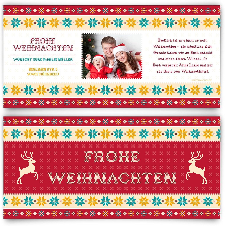 Weihnachtskarten (40 Stück) - Weihnachtspullover Weihnachtspullover Weihnachtspullover in Rot - Grußkarten Weihnachtsgrußkarten B01LZC2WCR  | Qualitätskönigin  71e7cd