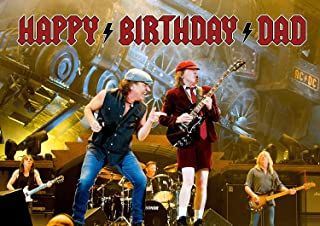 ACDC Edible Image Cake Topper Party Personalized 1/4 Sheet