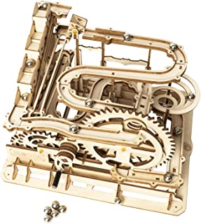 ROKR Marble Run Wooden Model Kits 3D Puzzle Mechanical Puzzles for Teens and..