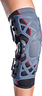 DonJoy OA (Osteoarthritis) Reaction Web Knee Support Brace: Medial Left/Lateral Right, Large