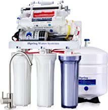 iSpring RCC1UP-AK 100GPD 7-Stage Reverse Osmosis RO UV Alkaline Water Filter System with Booster Pump