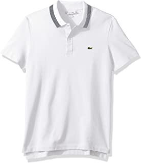 Lacoste Men's S/S Slubbed Pique Regular Fit Printed Polo