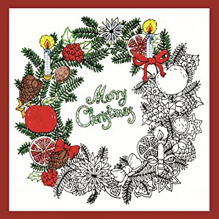 Design Works Crafts 4026 Christmas Wreath Zenbroidery Kit, 10