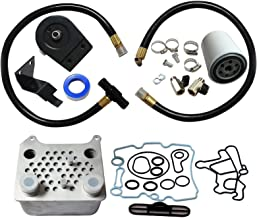 BLACKHORSE-RACING Oil Cooler w/Gasket and Coolant Filtration System Kit Fit 2003 2004 2005 2006 2007 Ford Powerstroke 6.0L