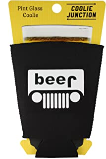 Coolie Junction Beer Truck Funny Pint Glass Coolie Black
