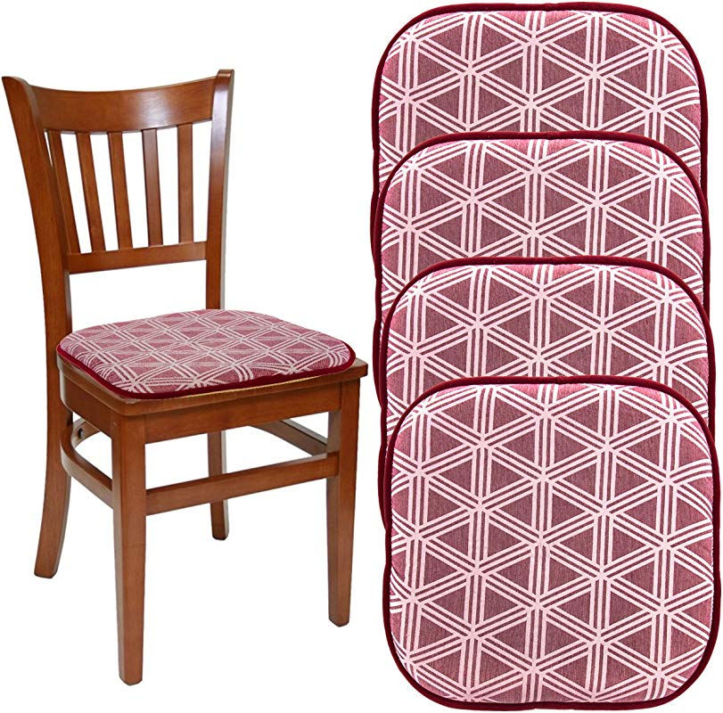 DreamHome Set Of 4 Nonslip Chair Pads For Dining Chairs Office Chairs 16 X 16 Indoor Memory Foam Gripper Chair Pad Cushion For Kitchen Chairs Seat Pillow For Rocking Chair