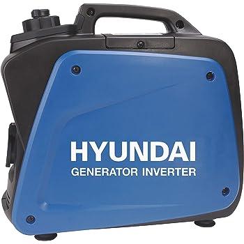 HYUNDAI Inverter-Generator HY55001 D (tragbarer Benzin Generator, Inverter Stromerzeuger mit 0.8 kW Maximalleistung und SCHUKO Stecker, Notstromaggregat, Stromaggregat)